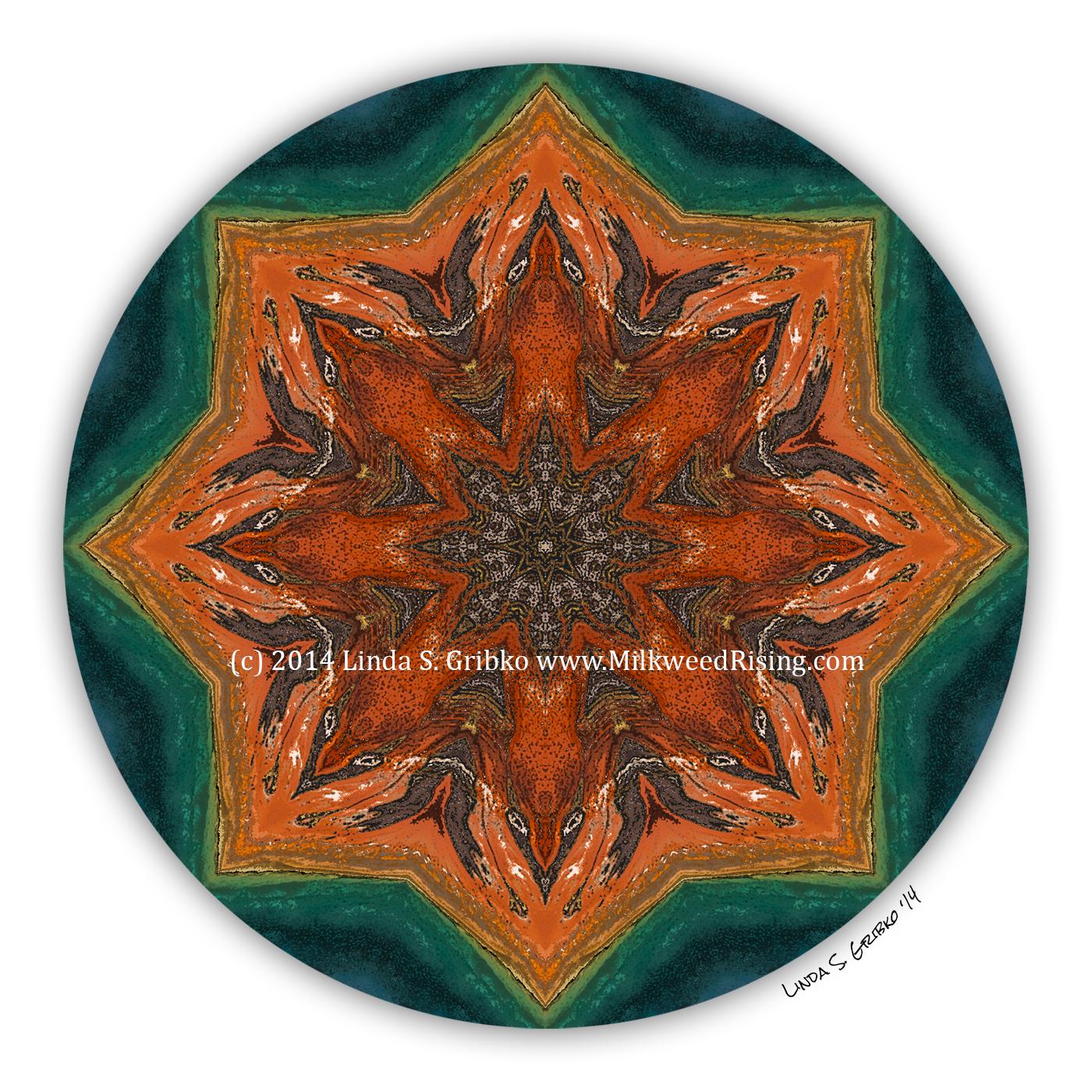 Grand prismatic flow mandala poetry card - Grand mandala ...