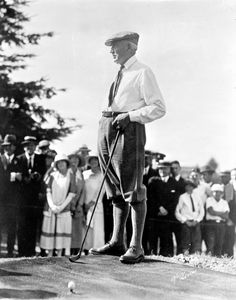 A Return to Normalcy: Warren Harding loved golf and is one of the Presidents most associated with the game. His light, affable personality calmed the public after the stress of World War I.