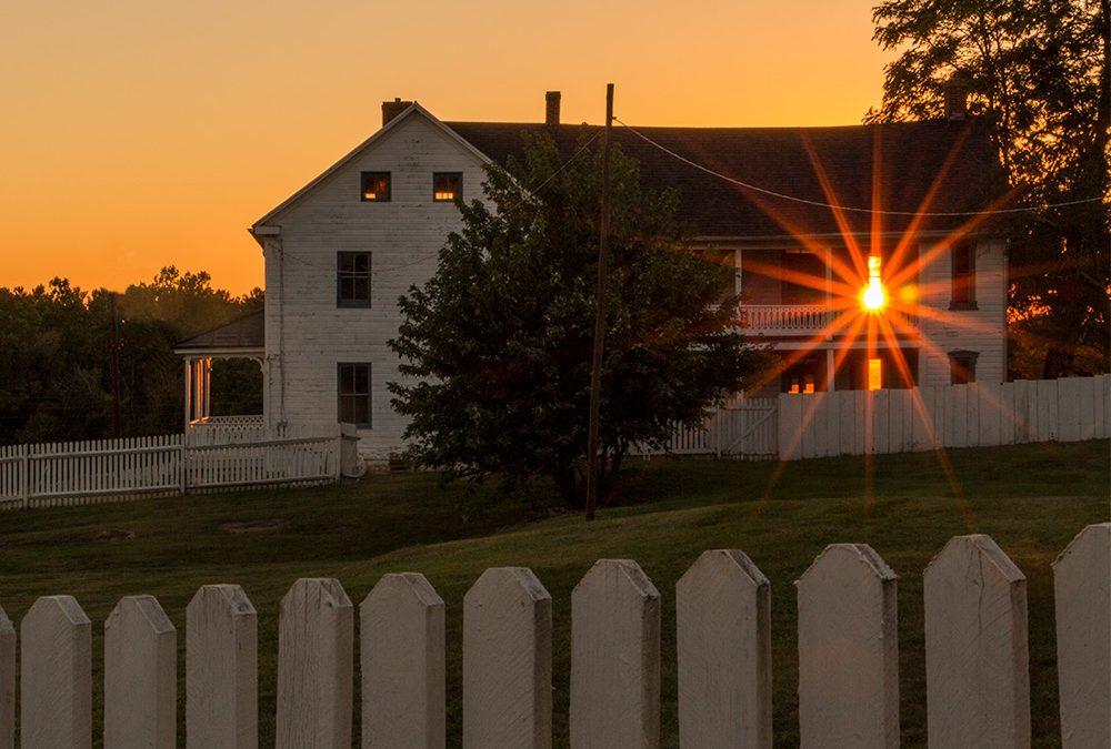 House Afire and an Apparition…Antietam's Joseph Poffenberger Farm at Sunset
