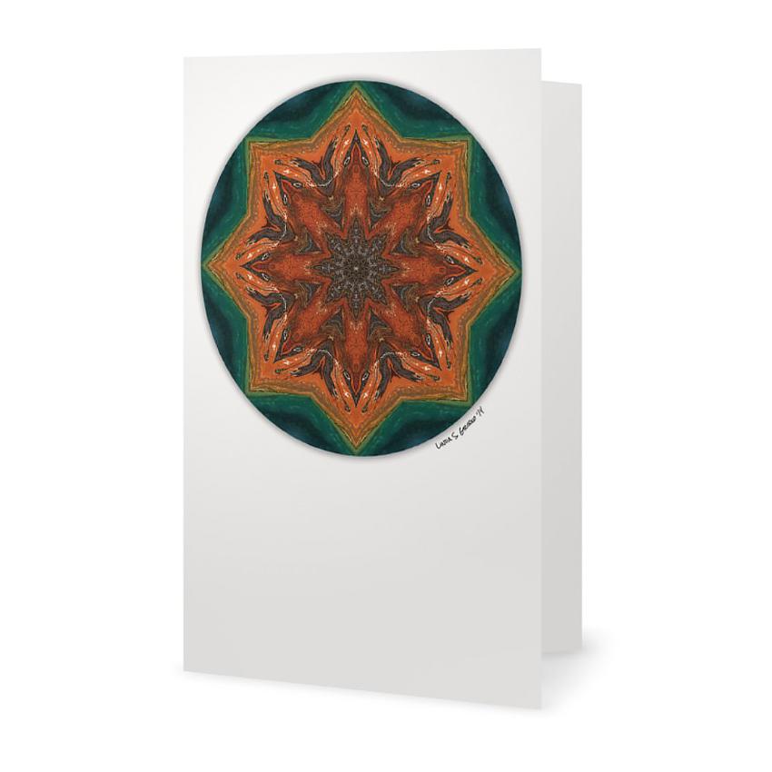 Grand prismatic mandala greeting card linda s gribko - Grand mandala ...