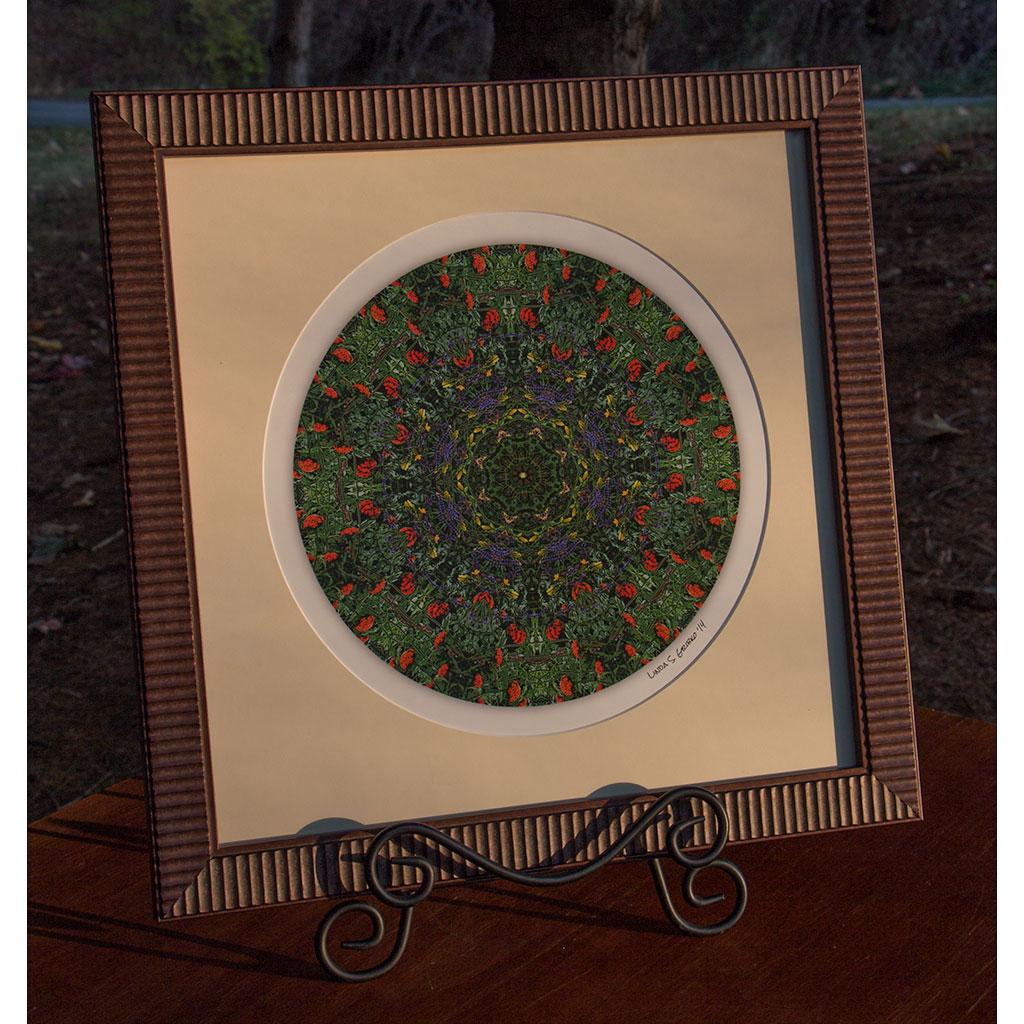 Crayon Garden Framed Mandala Print
