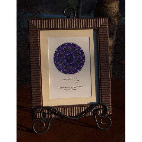 Dancing Spirit Nature Mandala Framed Print