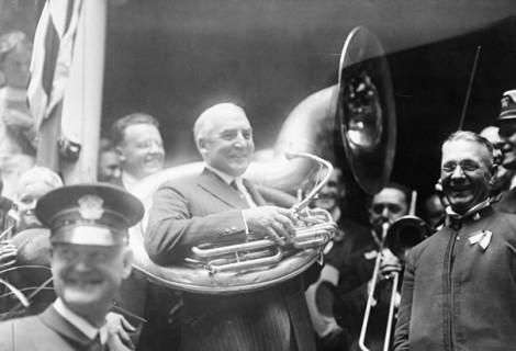 Joy: Warren Harding was an accomplished coronet player and lover of musical instruments.
