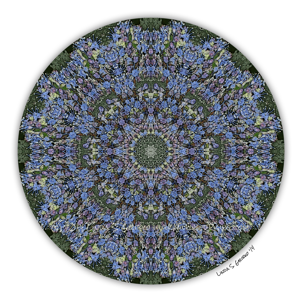 light blue lace mandala - photo #21