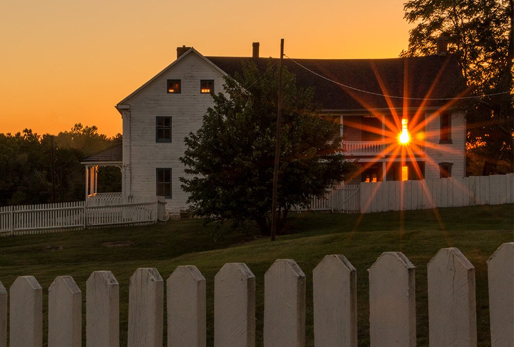 House Afire and an Apparition…Antietam's Joseph Poffenberger Farm at Sunset